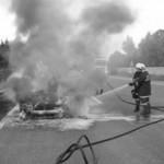 2009 KFZ-Brand auf der A1 am 11. August